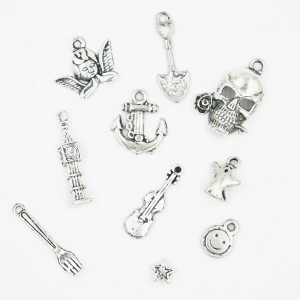 Tibetan silver plated alloy charms